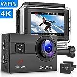 Victure Sports Camera 4K Ultra HD WI-FI 16 MP with Remote Control Camera Camcorder Waterproof 30 m...