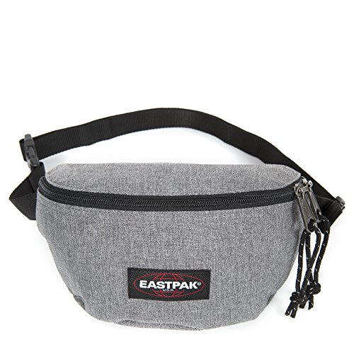 Eastpak Springer Marsupio Sportivo, 2 Litri, Nero (Black) Grigio (Sunday Grey)
