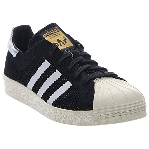 Superstar 80 Primeknit Mens In Black / white par Adidas, 9.5 Black-White