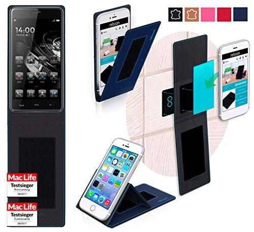 reboon Hülle für HomTom Ht5 Tasche Cover Case Bumper | Blau | Testsieger