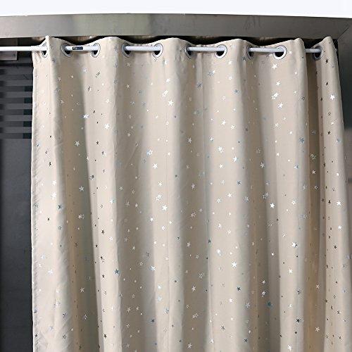 Zerone Barra de cortina telescópica, barra de cortina de ducha de tensión en hierro Barra para cortina de ducha extensible para cuarto de baño Dormitorio Cocina Ventana, 50cm–90cm/85cm–150cm/105–200cm, 105cm-200cm