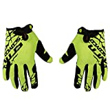 Clothing Accessories Best Deals - Scoyco Neon Anti Slip Full Finger Gloves (Green and Black, XL)