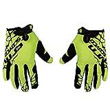 Automotive Accessories Best Deals - Scoyco Neon Anti Slip Full Finger Gloves (Green and Black, XL)