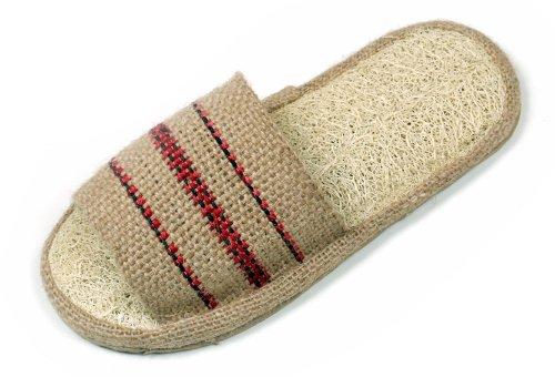 Loofah Savannah and Jute Open Toe Spa Slippers Size 37-38 European