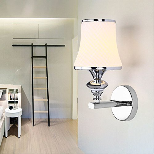 Wall Lights,Fashion modern simple bedroom bedside LED wall light single and double 2 with a switch creative balcony lighting,13*23cm