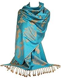 f2445ad954336 GFM Bufanda con estampado floral en estilo pashmina (FRL5)