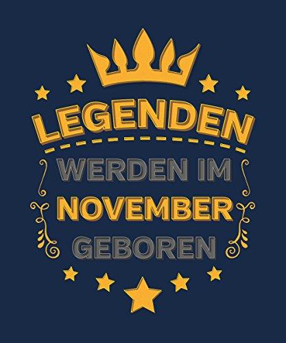 -- Legenden werden im November geboren -- Boys Kapuzenpullover Navy