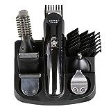Amilty 6 in 1 Hair Trimmer Titanium Hair Clipper Rasoio Elettrico Barba Trimmer Uomini Strumenti per Lo Styling Macchina da Barba 100-240 v