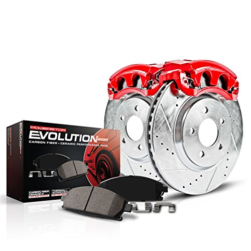 Power Stop KC5064 Z23 Evolution Sport 1-Click Brake Kit with Powder Coated Calipers (Brake Pads, Drilled/Slotted Rotors)