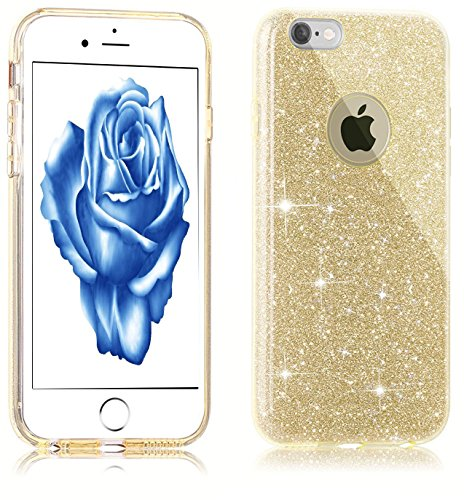 Bling Bling Coque pour iPhone 7 Plus,Silicone Coque pour iPhone 7 Plus,Transparente Coque pour iPhone 7 Plus,iPhone 7 Plus Coque Bling Diamant Cœur Etui Housse,EMAXELERS iPhone 7 Plus 5.5 Pouce Crista TPU 1290