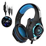 Tophie® Gaming Headset, neueste PS4 Gaming Kopfhörer mit Mikrofon für PlayStation 4 Xbox one Mobile phone PC Tablet Natebook (Blau) -