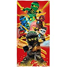 LEGO Ninjago Toalla de playa, diseño «Champion Fire», 70 cm x 140