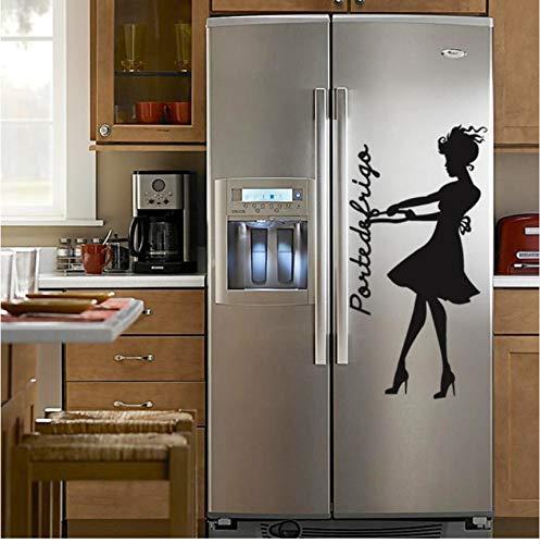 (Lsfhb Schönheit Kühlschrank Kunst Aufkleber Restaurant Küche VinylWandaufkleberdiywohnkulturwasserdichte Tapete70X35 Cm)