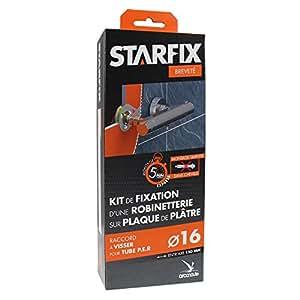 """Arcanaute - Raccord à glissement - Sortie de cloison STARFIX PER Ø16 Raccords à Compression - Femelle 1/2"""" (15/21) pour robinetterie entraxe 150 mm"""