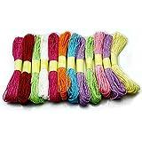 12 piezas Multicolor Papel de la puntada de costura Madejas bordado Hilo seda del paquete