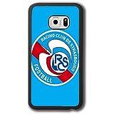 Suaswuup Coque Samsung Galaxy S7 Edge (Not S7) Racing Club De Strasbourg Alsace Football Griezmann - Originale Fille Racing Club De Strasbourg Alsace Fc Logo pour Galaxy S7 Edge ÉTui Humour Homme