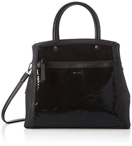 Tamaris Damen JIMMY Boston Bag Henkeltaschen, Schwarz (black comb 098), 30x31x13 cm