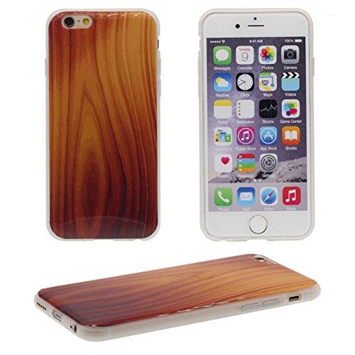 iPhone 6S Coque Mince Style, Bambu Bois Texture Conception Flexible Tpu Gel Transparent Housse de Protection Case Pour Apple iPhone 6 / 6S 4.7 inch color-c