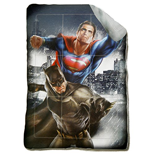 Trapunta invernale supereroi batman vs superman dawn of justice 180x260cm imbottitura 320gr/mq