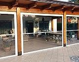 Tenda Veranda - ermetica - chiusura totale - con guide - antivento - antipioggia