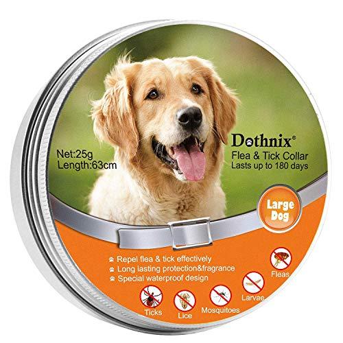 dothnix Zecken Halsband für Hunde und Katzen,Wasserdicht Hund Flohhalsband,8 Monate Schutz - Verstellba für Kleine Groß Haustiere,Natürliche & Sicherheit,63cm