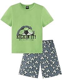 Schiesser Jungen Zweiteiliger Fussball Knaben Schlafanzug Kurz