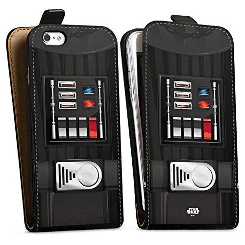 Apple iPhone X Silikon Hülle Case Schutzhülle Star Wars Merchandise Fanartikel Darth Vader Downflip Tasche schwarz