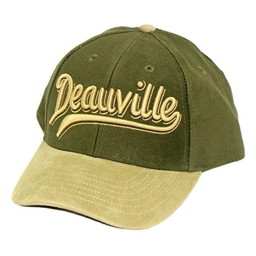 Souvenirs de France - Casquette Deauville - Taille réglable - Couleur : Kaki