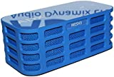 MESH3 Portable Stereo Bluetooth Speaker - Rechargeable with 14hrs playtime and touch sensitive controls. High definition long throw speakers and Harmonic Bass Matrix. Perfect for Home, Office, holidays, garden, BBQ, Party (Blue)