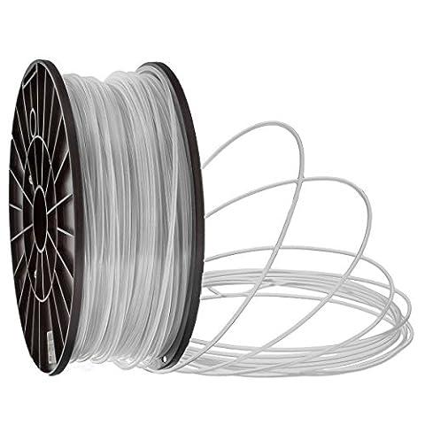 Filaments PLA pour imprimantes 3D 2 tailles: 1,75 mm ou 3,0mm par bobine de 1 kg, couleurs différentes (blanc, 3.0 mm)