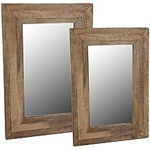 suchergebnis auf f r spiegel mit holzrahmen. Black Bedroom Furniture Sets. Home Design Ideas