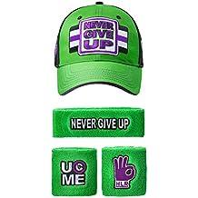 FREEZE John Cena WWE NUNCA Give Up verde morado Gorra Béisbol diadema  Brazalete Set 40a1633acc3