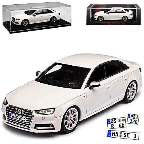 Spark Audi A4 S4 B9 Limousine Weiss 5. Generation Ab 2015 1/43 Modell Auto (Audi S4 Spielzeug Auto)