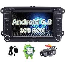 EINCAR Quad Core 16GB Android 6.0 Marshmallow 7 Pulgadas de Pantalla t¨¢ctil 2 DIN Autoradio DVD del Coche de la rociada EST¨¦reo de navegaci¨®n GPS para VW ...
