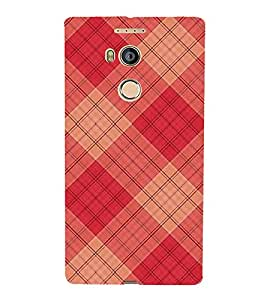 Fuson Designer Back Case Cover for Gionee Elife E8 (Checks red checks Pink Checks crossed Checks Criss Cross)