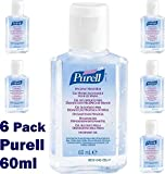 Purell Personal Hygienic Instant Hand Sanitiser Gel Rub Pump Bottle - 60ml - Case of 6