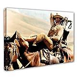 Terence Hill Bud Spencer - Der müde Joe - Pferd - Vier Fäuste für ein Halleluja - Leinwand (80 x 60 cm)