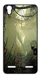 Happoz Women In Forest Lenovo A6000 Plus mobile cover Mobile Phone Back Panel Printed Fancy Pouches Accessories Z967