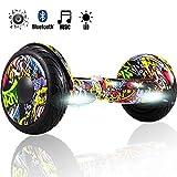 Magic Vida Skateboard Électrique 10 Pouces puissances 700W avec Haut Parleur Bluetooth et LED...