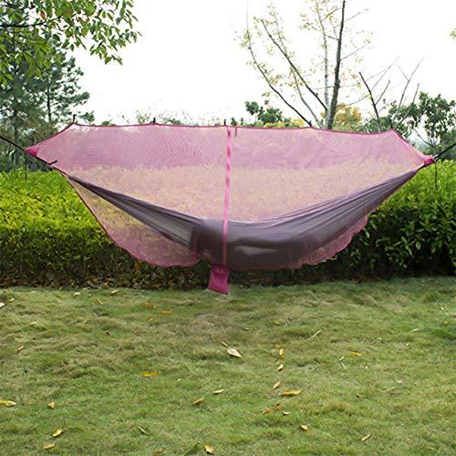 Homclo Hamaca hamaca acampar insectos para dos personas con mosquitera hamaca hamaca de viaje con el montaje hamaca al aire libre para acampar, viajes, vacaciones
