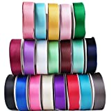 TtS 25mmX 25M Satin Ribbon Reel Wide Double Faced Satin Ribbon Roll Quality Ribbon Crafts - Chocolate