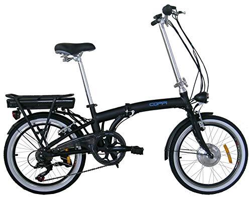 Coppi bici elettrica / E-bike a pedalata assistita 20 pollici, Nero
