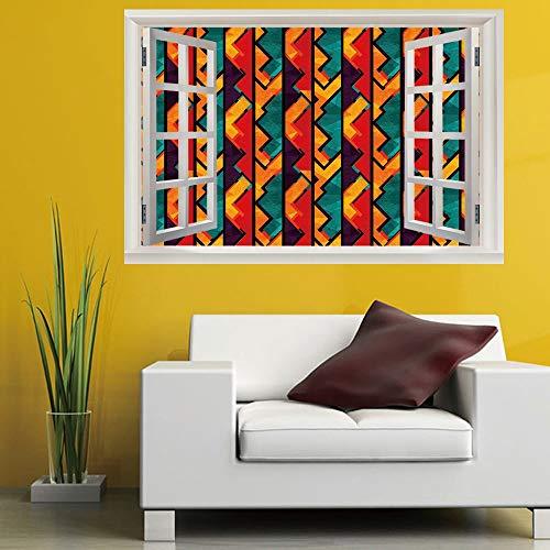 Niazhy Cartoon Holzbrett Schattierung 3D Wandaufkleber Gefälschte Fenster Entfernbare Tapete Schlanke Minimalistische Dekorative Malerei Kinder Schlafzimmer 60Cmx90Cm