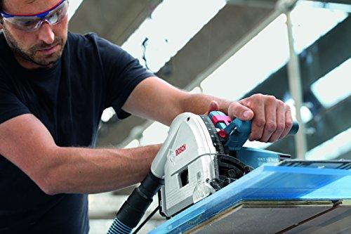 Bosch Professional Tauchsäge GKT 55 GCE, Kreissägeblatt Best for Wood, 1400 Watt-Motor, 165 mm Saägeblattdurchmesser, L-Boxx, 1 Stück, 0601675001 - 3