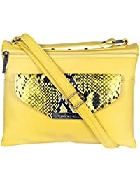 ESBEDA Yellow Color Graphic Print Slingbag For Women