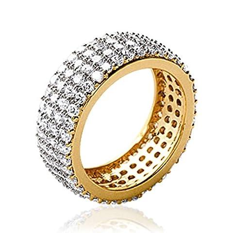 ISADY - Neelia Gold - Bague femme - Plaqué Or 750/000 (18 carats) - Oxyde de Zirconium