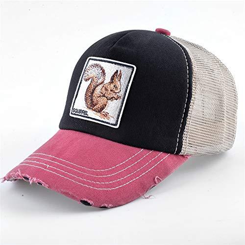 zhuzhuwen Baumwolle Tier Stickerei Patch Baseballmütze Männer und Frauen europäischen und amerikanischen Hut Hip-Hop Hip-Hop-Kappe Netzkappe 8 56-62cm