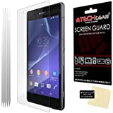 [5 Pack] TECHGEAR® Sony Xperia Z2 Premium LCD Screen Protector Guard Covers With Cleaning Cloth & Application Card (5 x Ultra Clear Edition)