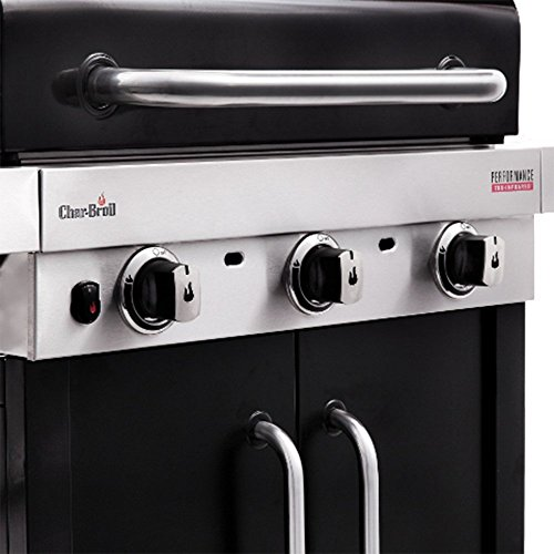 Char-Broil Performance Series™  340B - 3 Burner Gas Barbecue Grill with TRU-Infrared™ technology, Black Finish.