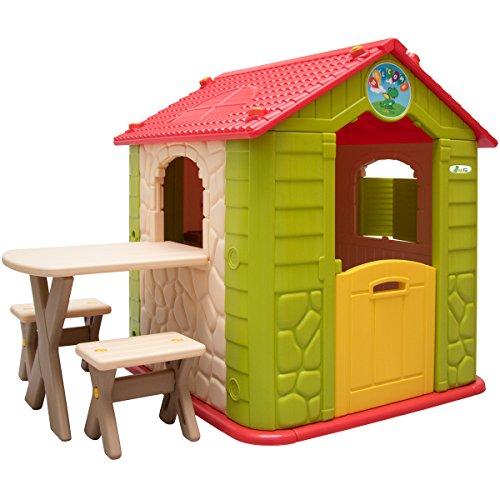 LittleTom Casa de Juegos para niños y niñas incl 1 mesa 2 taburetes ...